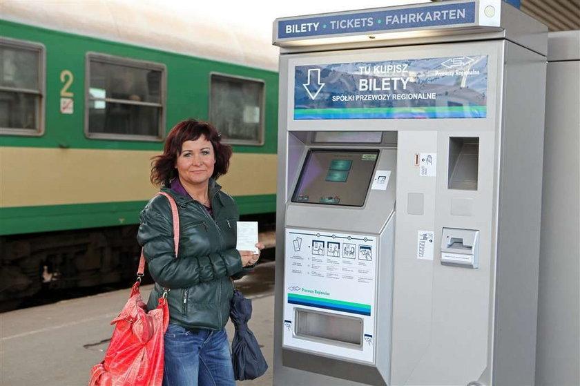 Kup bilet na pociąg w automacie
