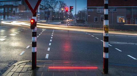 Sygnalizacja świetlna w Bodegraven, Holandia