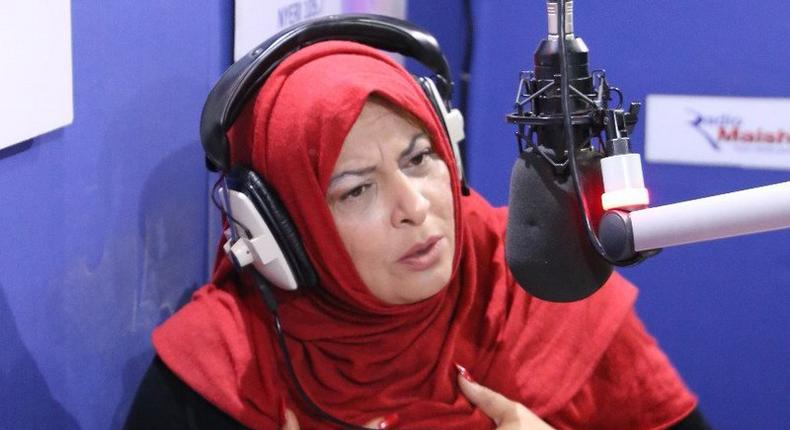 Former presidential candidate Nazlin Umar during a past appearance at Radion Maisha (Twitter)