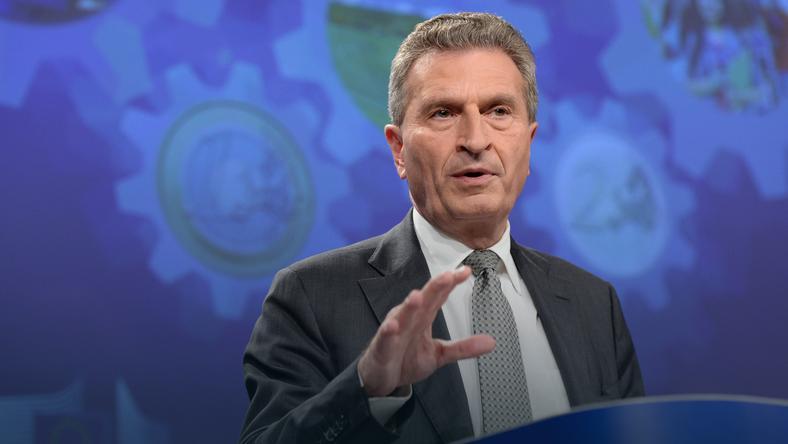 Komisarz do spraw budżetu Guenther Oettinger