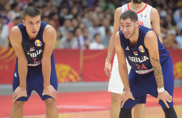 Košarkaška reprezentacija Srbije, Španije, Košarkaši Srbije