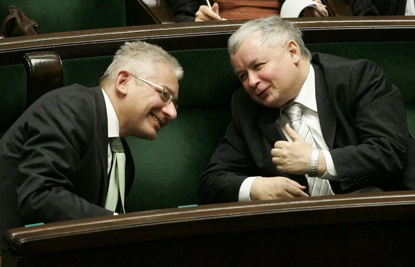 Ludwik Dorn i Jarosław Kaczyński