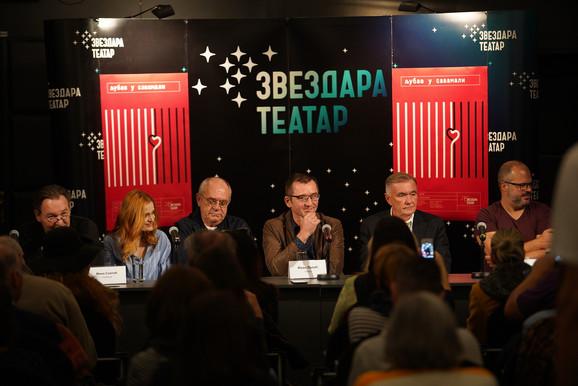 Branko Vidaković, Mina Sovtić, Feđa Stojanović, Ivan Lalić, Duško Kovačević, Darijan Mihajlović, Ljubav u Savamali, Zvezdara teatar