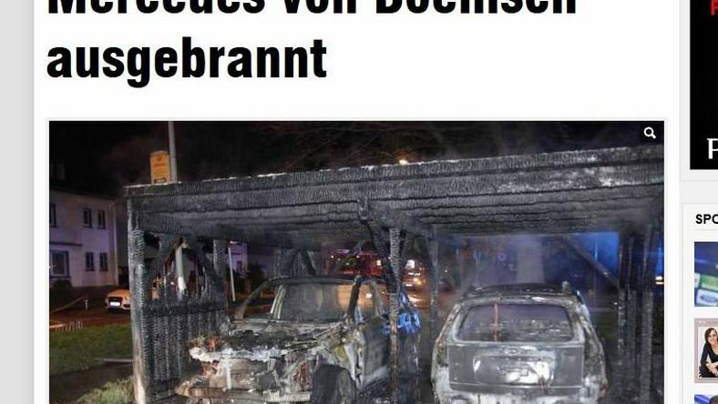 Sebastian Boenisch stracił w pożarze swoje auto
