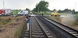 Pijany wjechał fordem pod pociąg