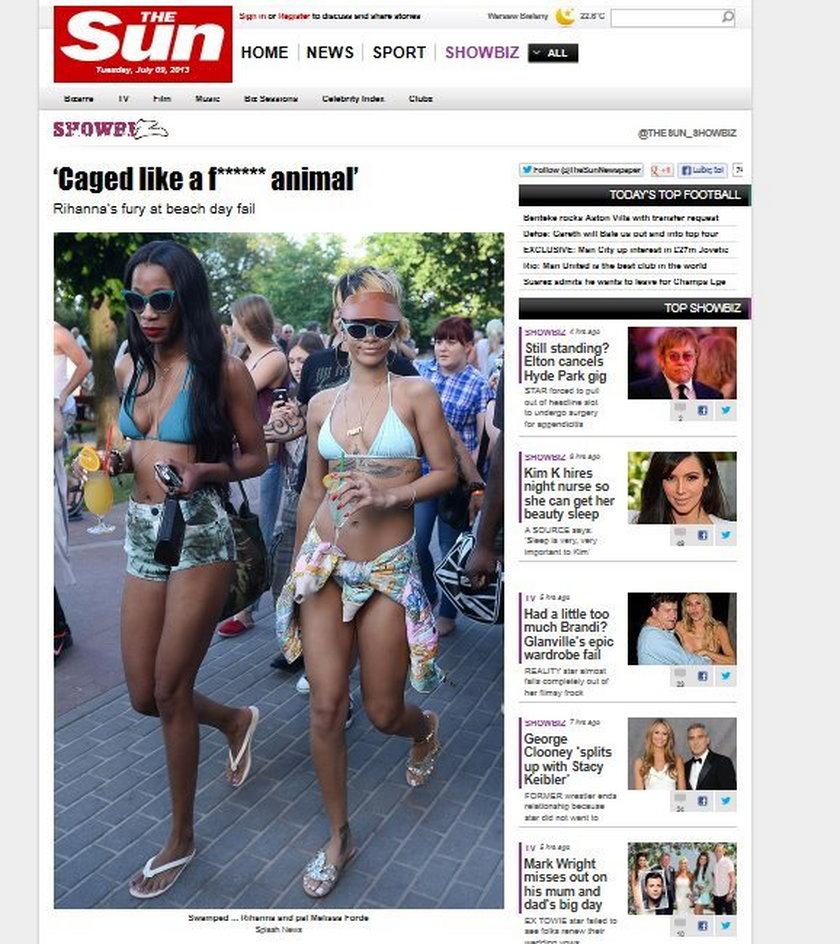 Rihanna w the sun