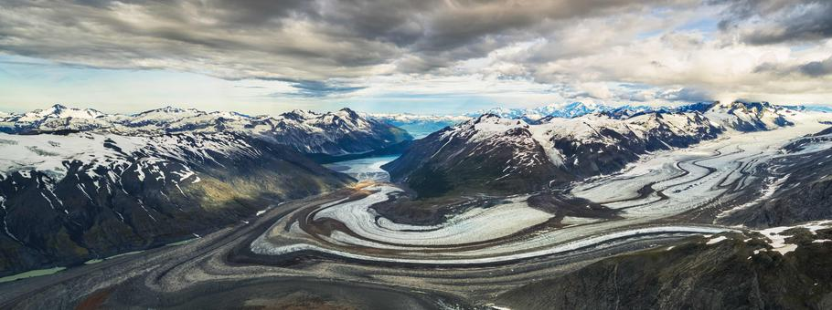 Tweedsmuir Glacier, Kluane National Park and Reserve, near Haines Junction; Yukon, Canada