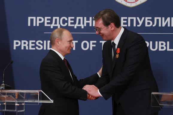 Putin i Vučić u Beogradu