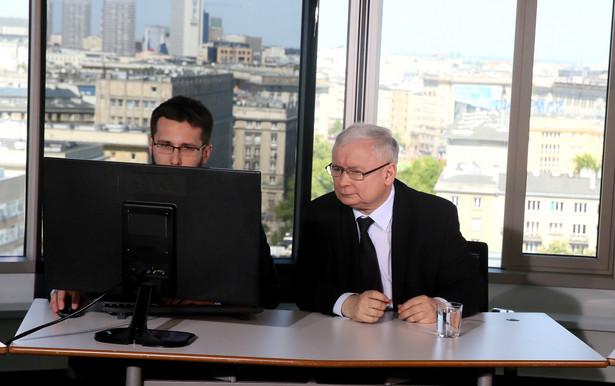 Jarosław Kaczyński odpowiadał na pytania internautów