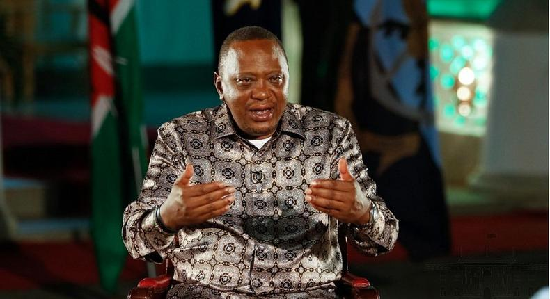 President Uhuru Kenyatta durign a recent interview at the Coast while on holiday (PSCU)