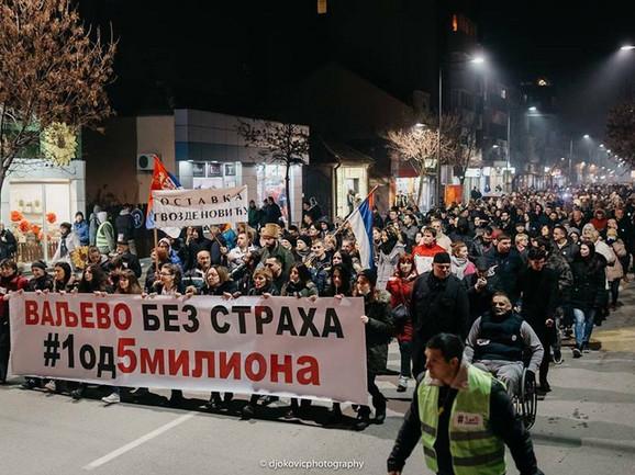 Protestna šetnja u Valjevu