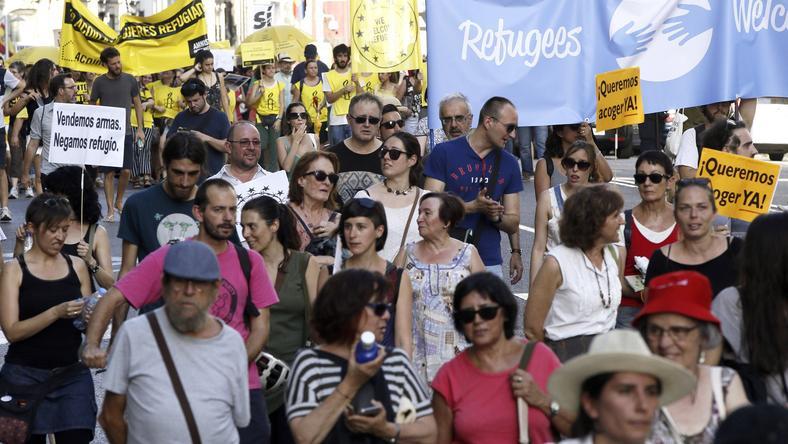 SPAIN REFUGEES DEMONSTRATION (Pro-refugees demonstration in Madrid)