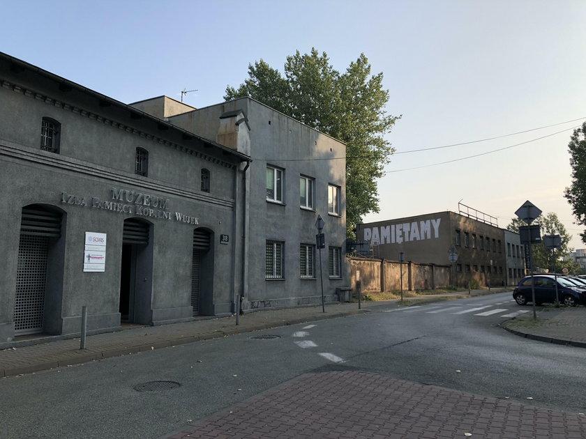 Katowice: mural górnicy z Wujka