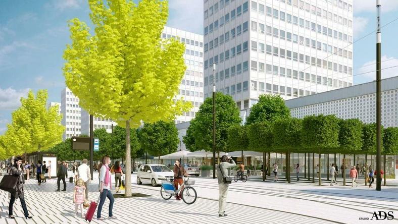 Ulica Św. Marcin po przebudowie - będzie więcej zieleni