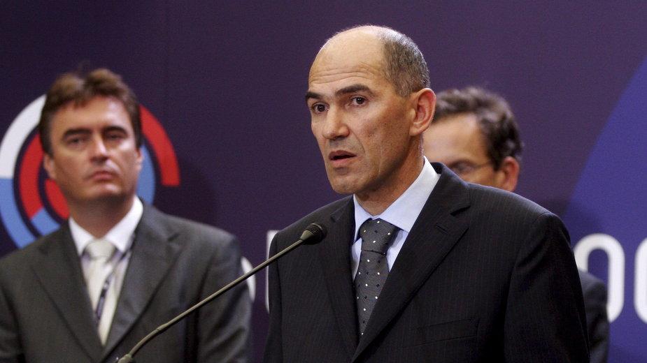 Słoweński premier Janez Jansza