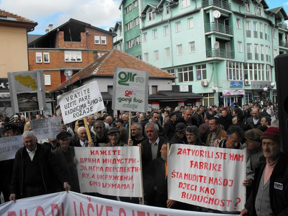 Gladni i prevareni: Protest radnika sjevera u Bijelom Polju