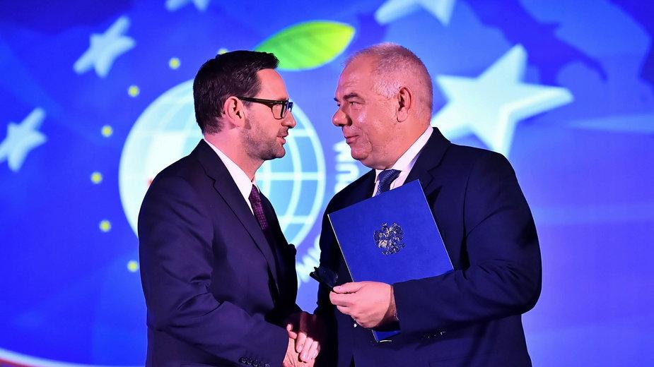 Daniel Obajtek i Jacek Sasin