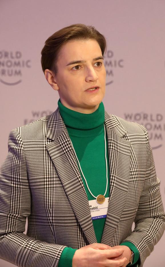 Ana Brnabić u Davosu