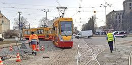 Tory na Przybyszewskiego w Łodzi do remontu. Chojny bez tramwaju