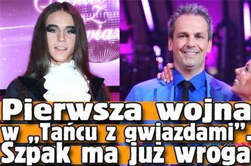 """Pierwsza wojna w """"Tańcu z gwiazdami"""". Szpak ma już wroga"""