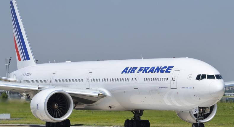F-GSQX Air France Boeing 777-328(ER) photographed at Paris.