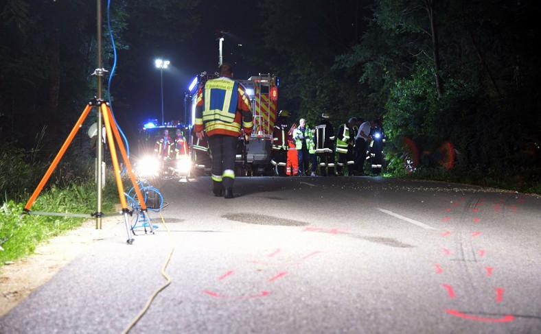 Zdjęcie z miejsca wypadku wykonane przez strażaków z miejscowości Bodenkirchen