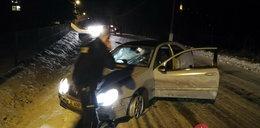 Pirat drogowy potrącił policjanta podczas pościgu. Padły strzały!
