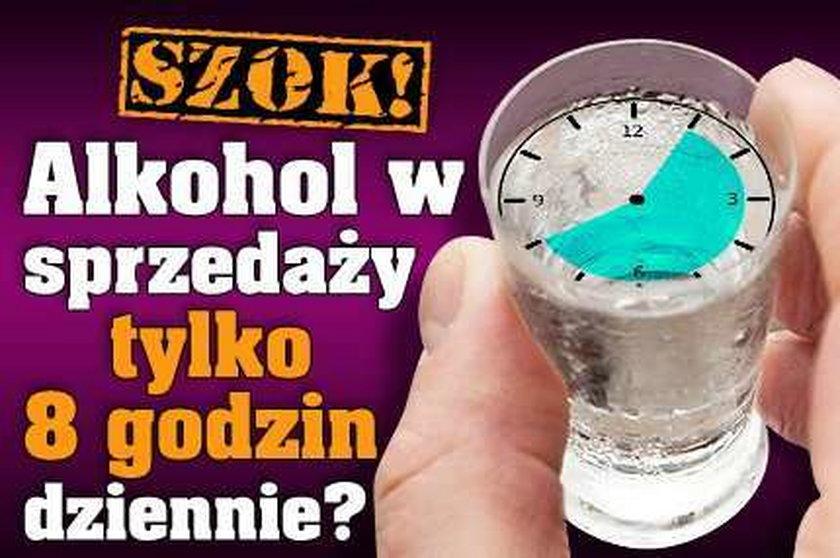 Szok! Alkohol w sprzedaży tylko 8 godzin dziennie?