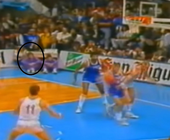 Luis Skola na utakmici Jugoslavija - Sovjetski Savez 1990 godine