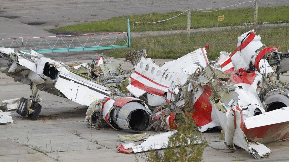 Szczątki polskiego tupolewa, który rozbił się 10 kwietnia 2010 r. w Smoleńsku