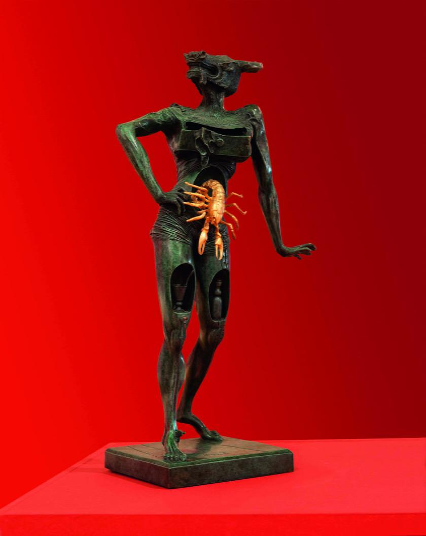 Salvador Dali, Minotaur, 1981, rzeźba wykonana w brązie, 100 x 30 x 80 cm