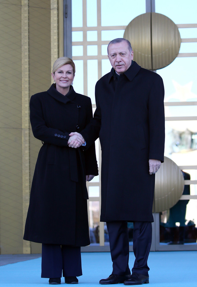 Predsednica Hrvatske Kolinda Grabar Kitarović i predsednik Turske Redžep Tajip Erdogan