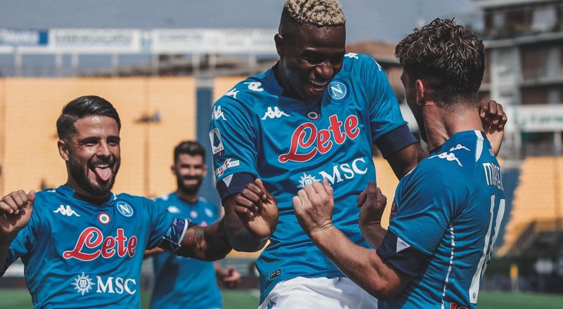 Victor Osimhen's Serie A debut for Napoli lit up Twitter Nigeria