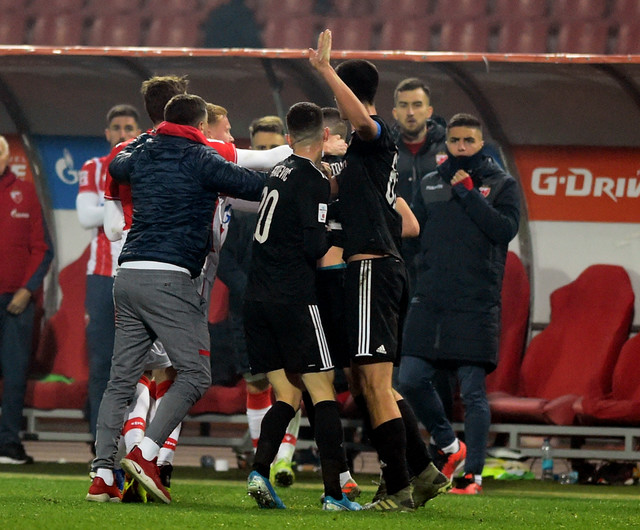 Usijane strasti na meču FK Crvena zvezda - Čukarički