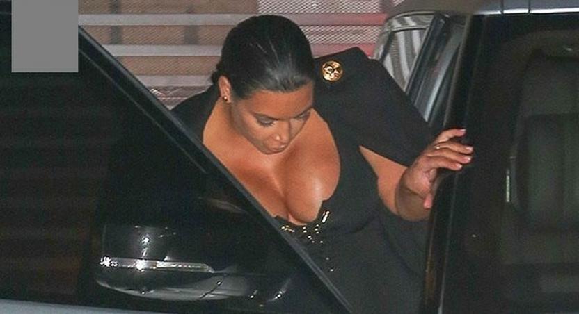 Kim Kardashian's massive cleavage steals spotlight in L.A