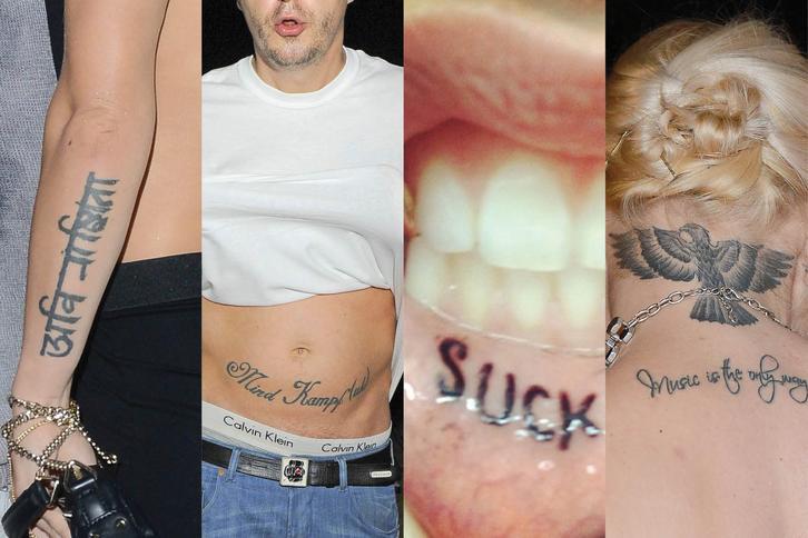 Dziwne Tatuaże Gwiazd