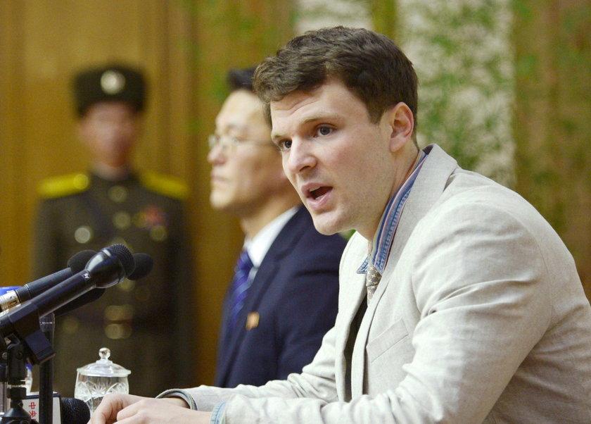 Otto Warmbier został zwolniony z więzienia w Korei Północnej. Jest w śpiączce