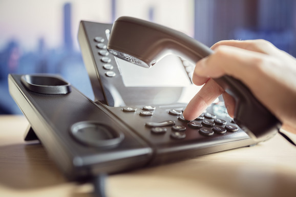 VoIP telefon - ilustracija