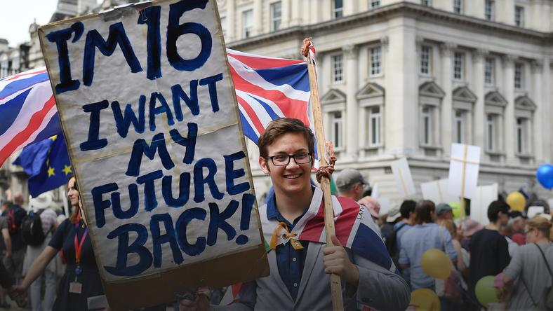 epa06833964_2 - epaselect BRITAIN BREXIT PEOPLES MARCH (People's March Against Brexit in London)