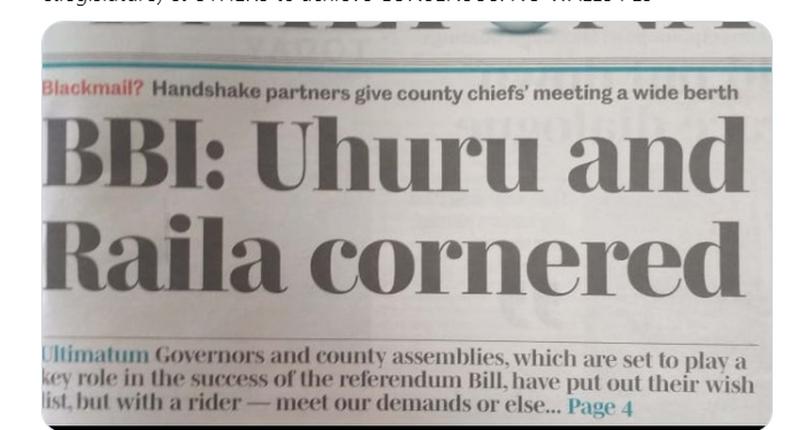 Tweet by Deputy President William Ruto