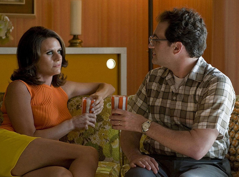 "Amy Landecker i Michael Stuhlbarg w filmie braci Coen ""A Serious Man"""