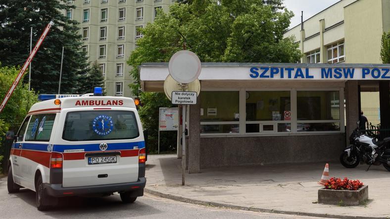 Oksanę przewieziono do szpitala MSW w Poznaniu