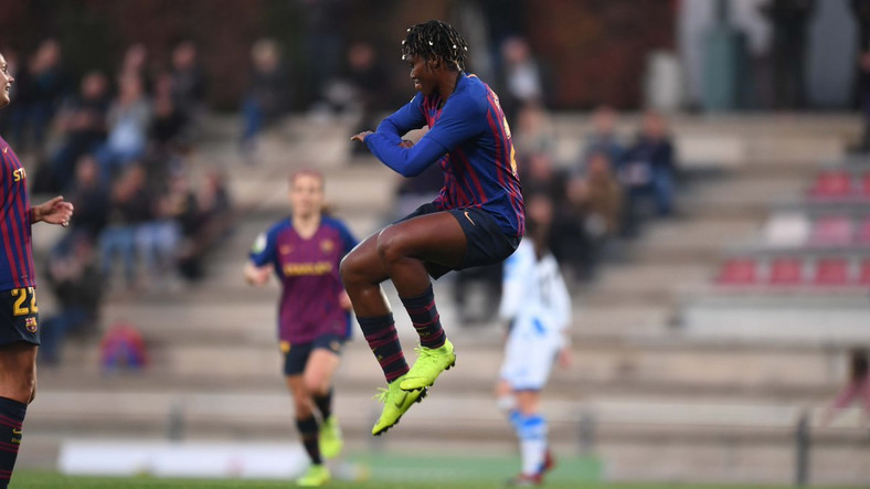 Asisat Oshoala scored eight goals in 11 games for Barcelona's women's team [Barcelona Femeni]