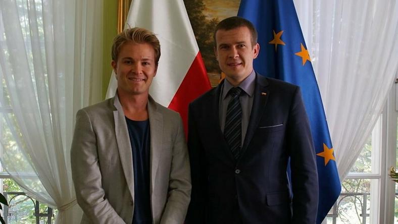 Nico Rosberg i Witold Bańka (fot. msit.gov.pl)
