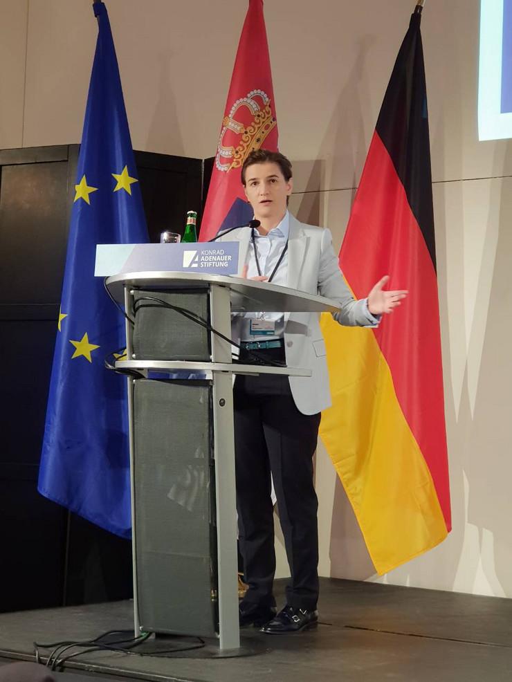 Ana Brnabić Berlin  promo vlada srbije