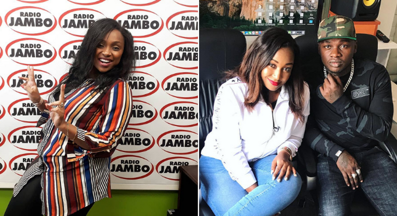 Betty Kyallo on the spot after dancing to Khaligraph's raunchy song (Instagram)