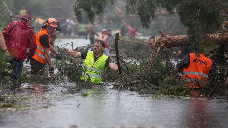Akcja oczyszczania koryta rzeki i kanału Brdy