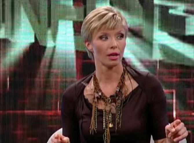 """Jelena Helc Vesković kao voditeljka emisije """"Granica"""""""