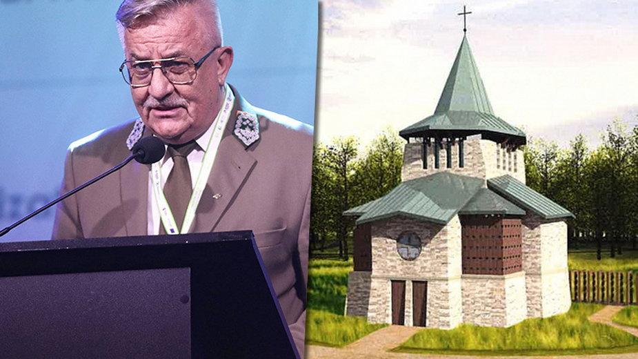 Dyrektor krakowskich lasów Jan Kosiorowski i kaplica, której budowę zapowiadał