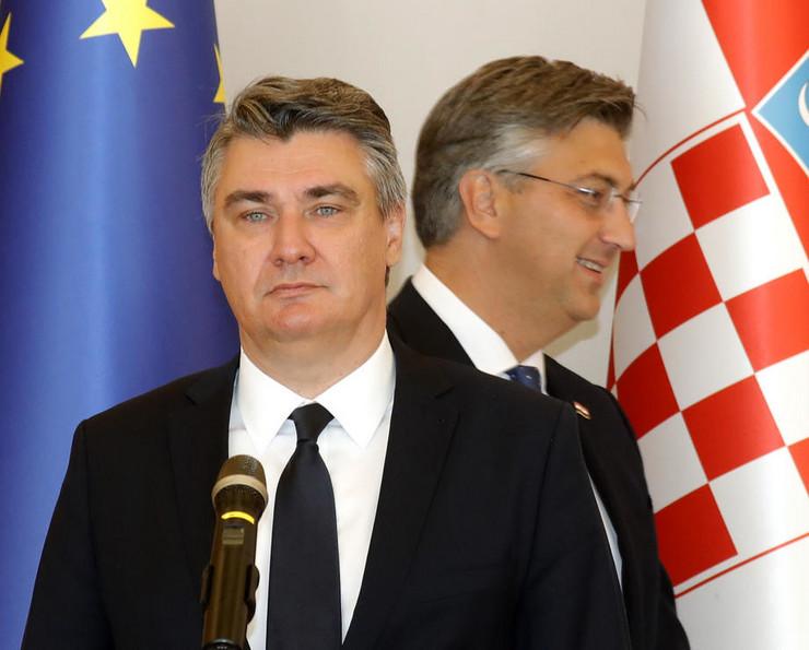 Milanović i Plenković epa ANTONIO BAT